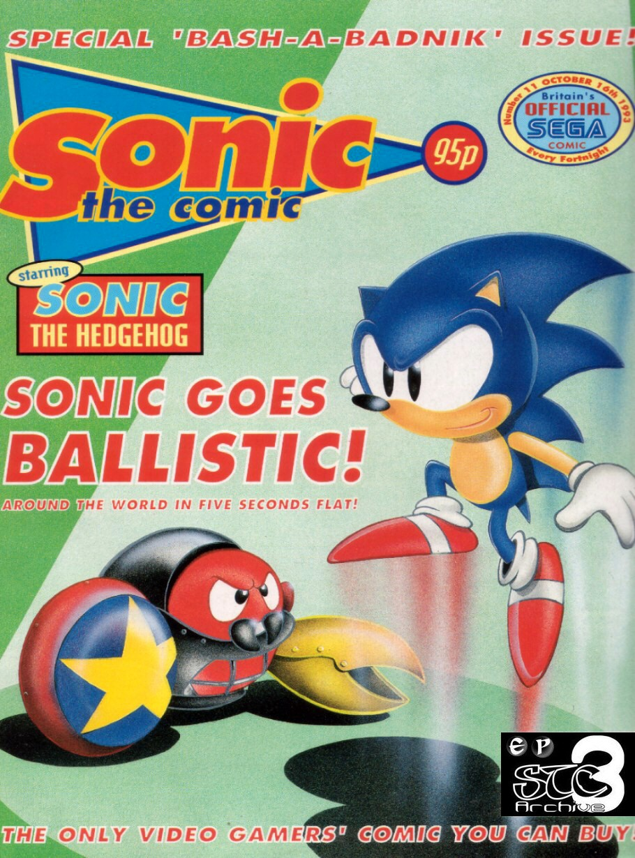 Sonic - The Comic Issue No. 011 Comic cover page