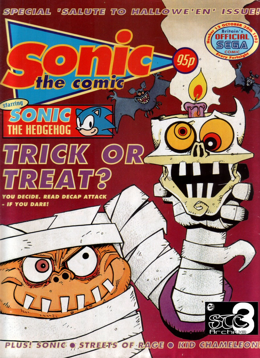 Sonic - The Comic Issue No. 012 Cover Page