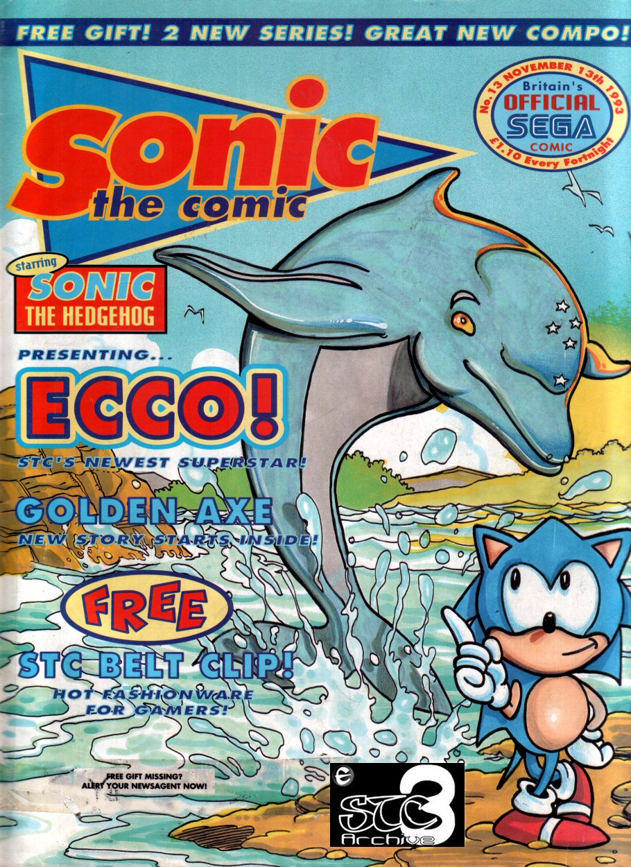 Sonic - The Comic Issue No. 013 Comic cover page