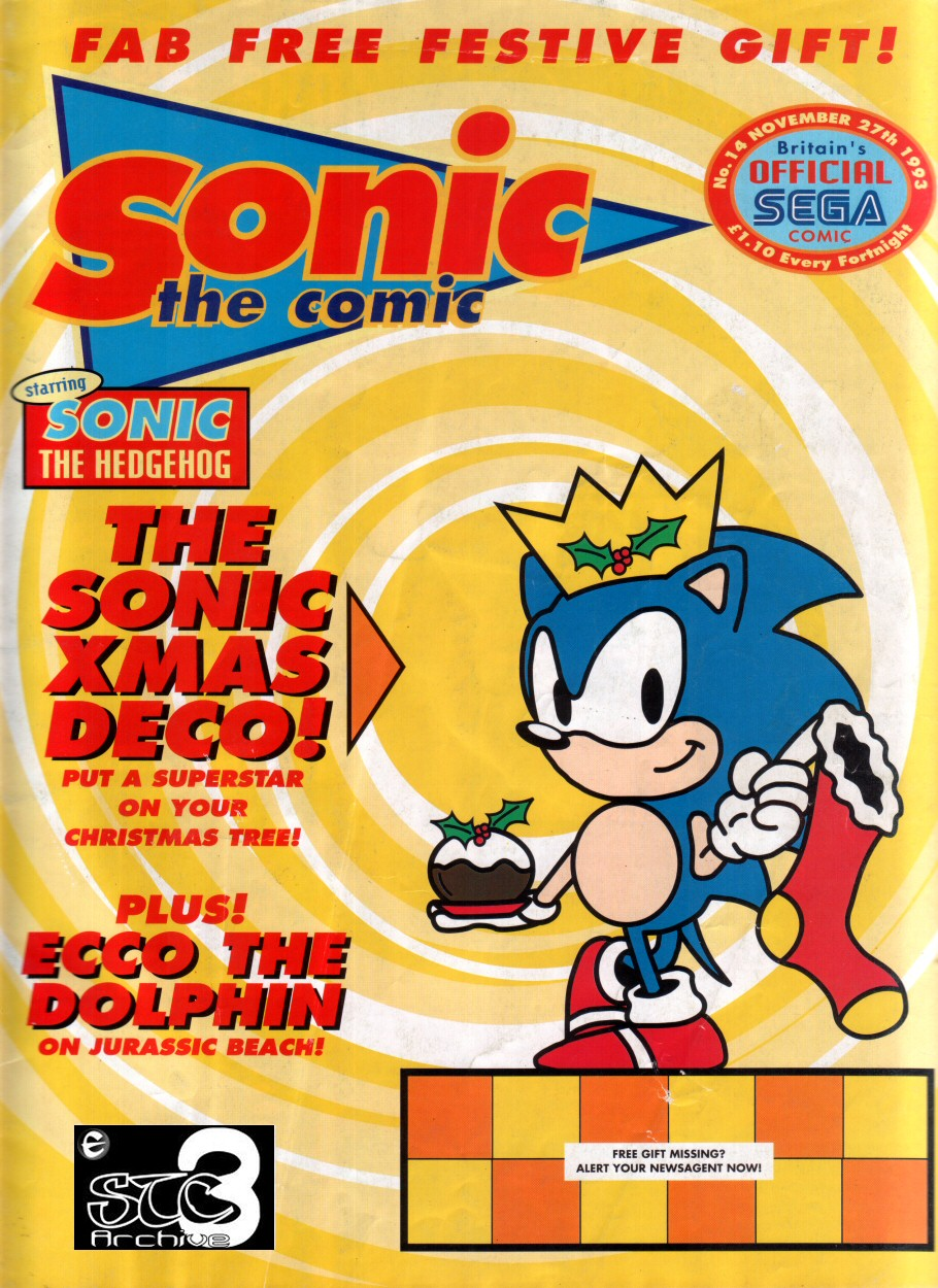 Sonic - The Comic Issue No. 014 Cover Page