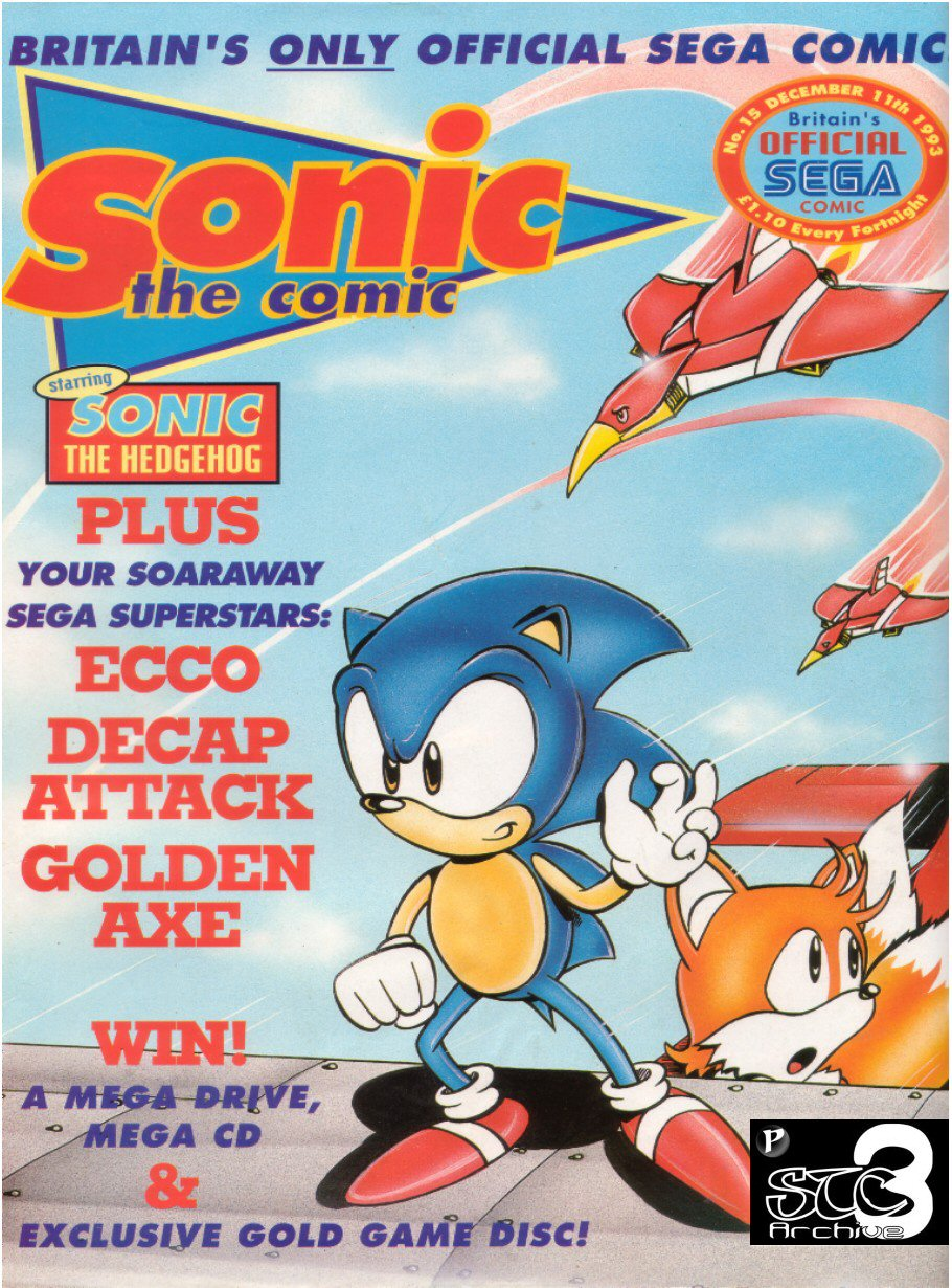 Sonic - The Comic Issue No. 015 Comic cover page