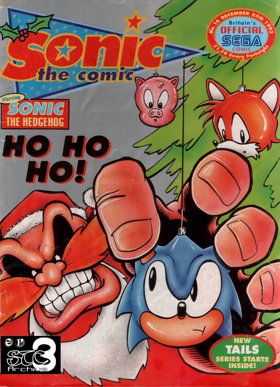 Sonic - The Comic Issue No. 016 Cover Page