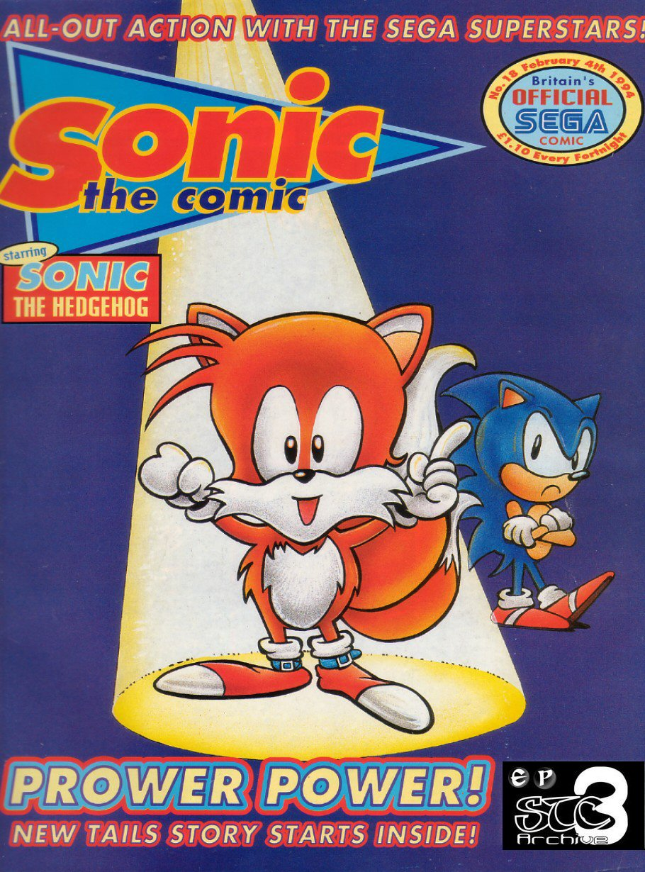 Sonic - The Comic Issue No. 018 Comic cover page