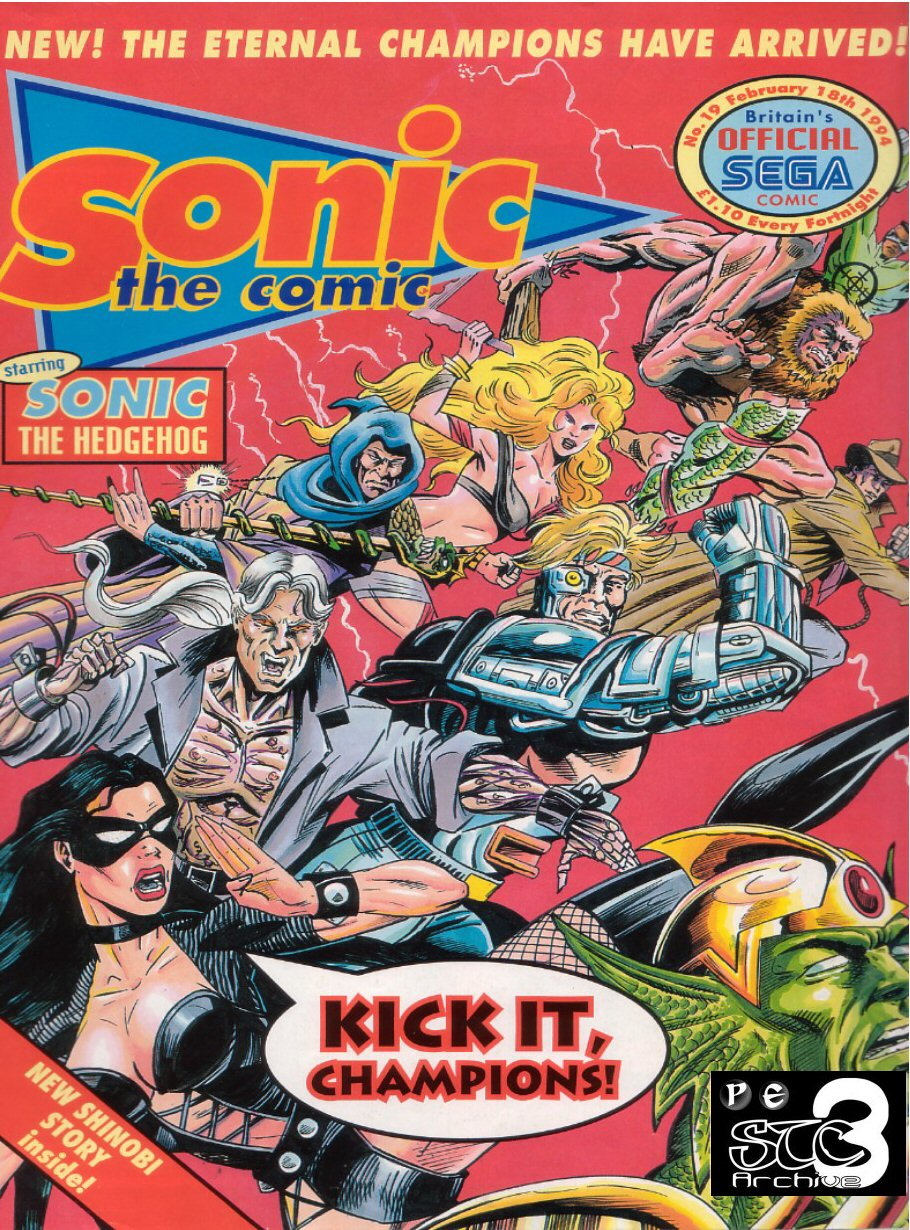 Sonic - The Comic Issue No. 019 Comic cover page