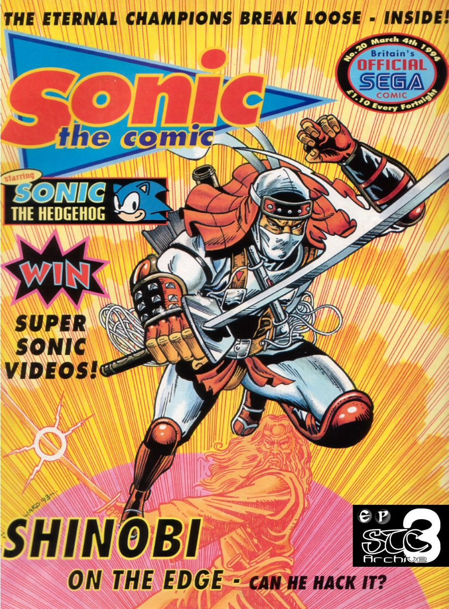 Sonic - The Comic Issue No. 020 Comic cover page