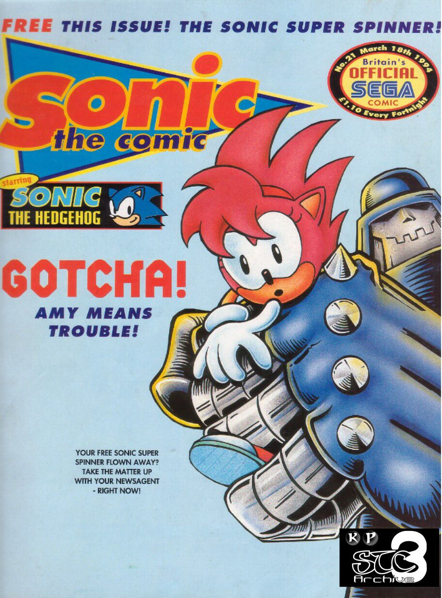Sonic - The Comic Issue No. 021 Cover Page