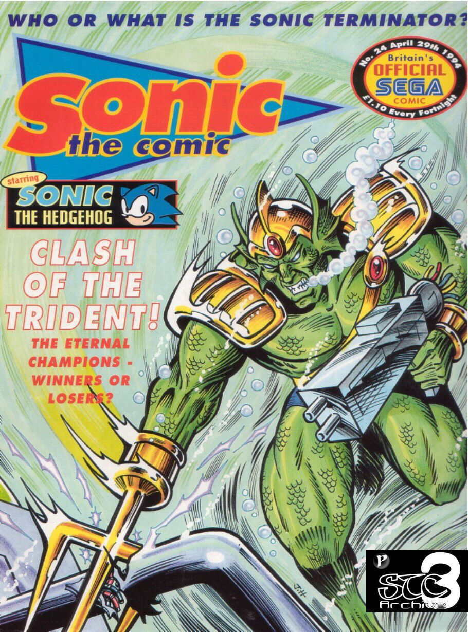 Sonic - The Comic Issue No. 024 Comic cover page