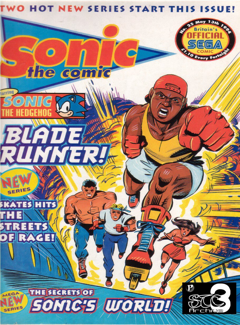 Sonic - The Comic Issue No. 025 Comic cover page