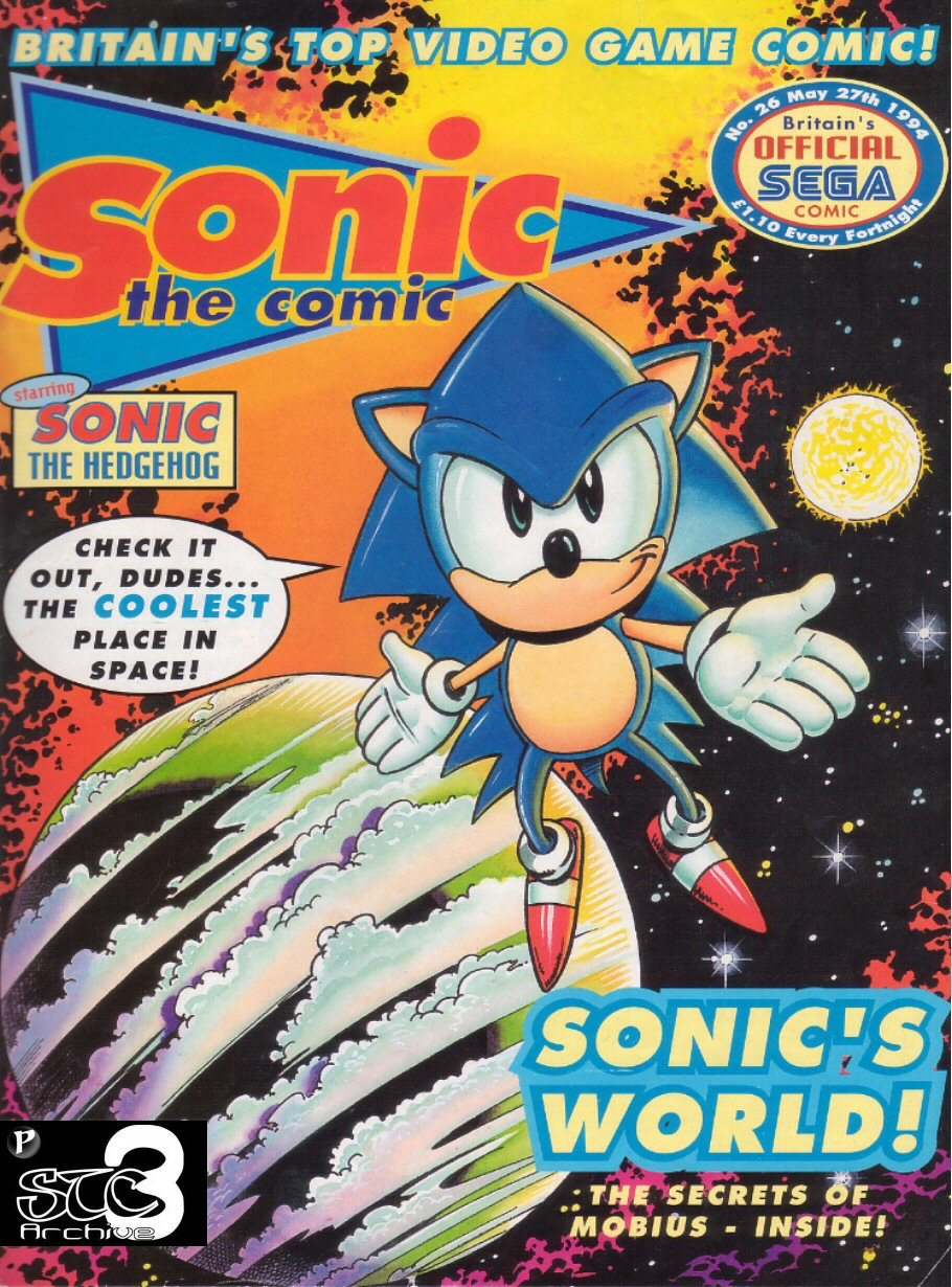 Sonic - The Comic Issue No. 026 Cover Page
