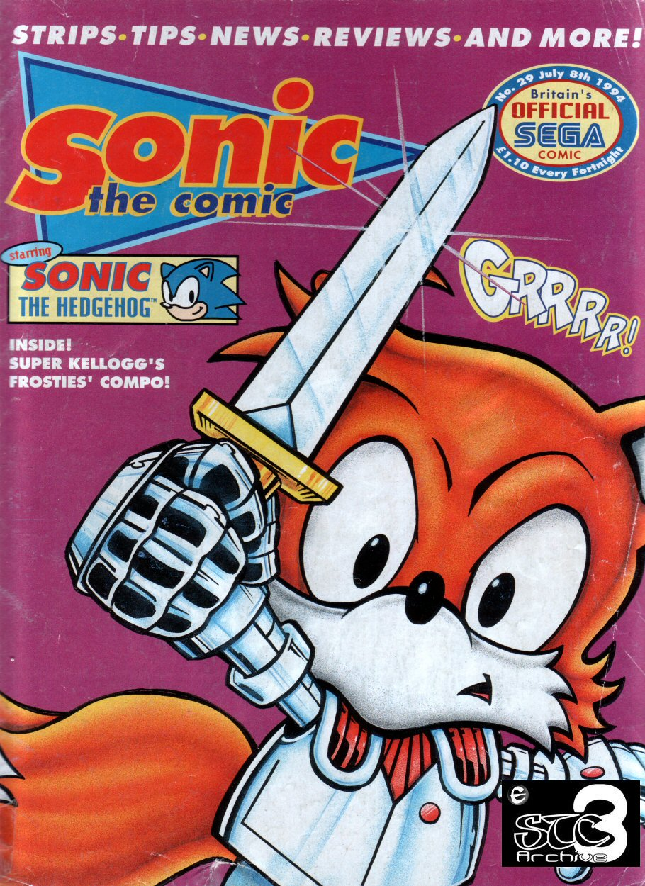 Sonic - The Comic Issue No. 029 Cover Page