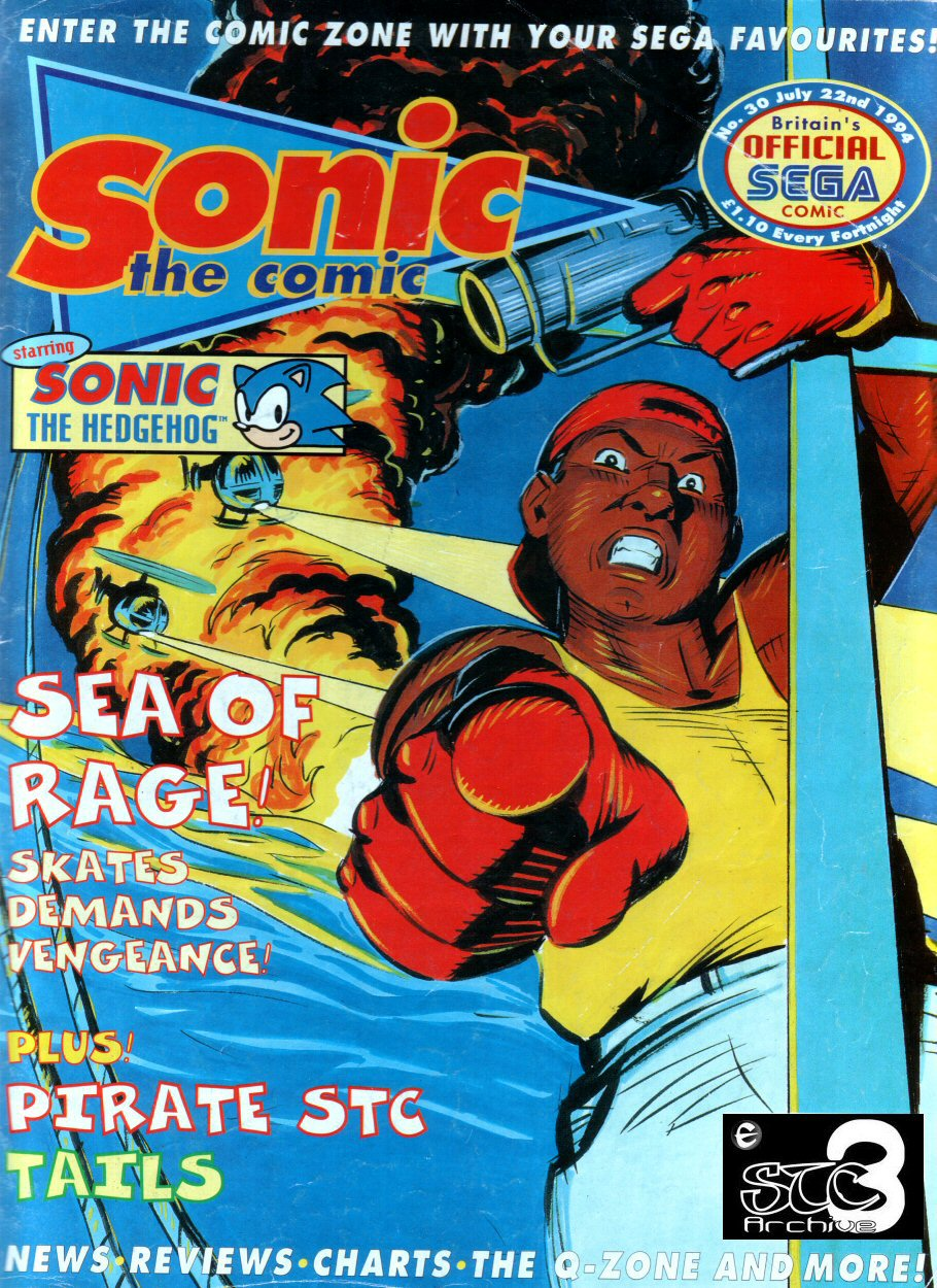 Sonic - The Comic Issue No. 030 Comic cover page