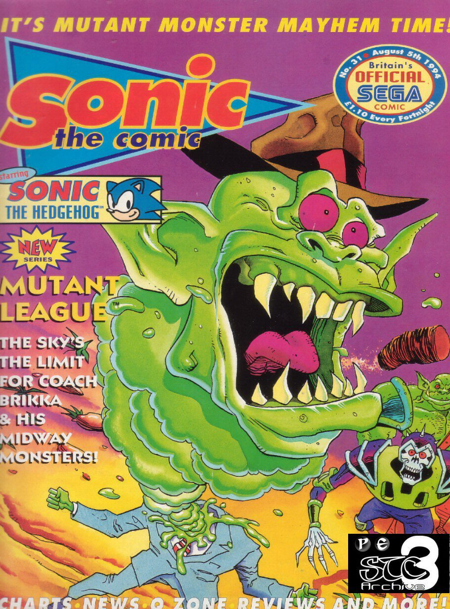 Sonic - The Comic Issue No. 031 Comic cover page