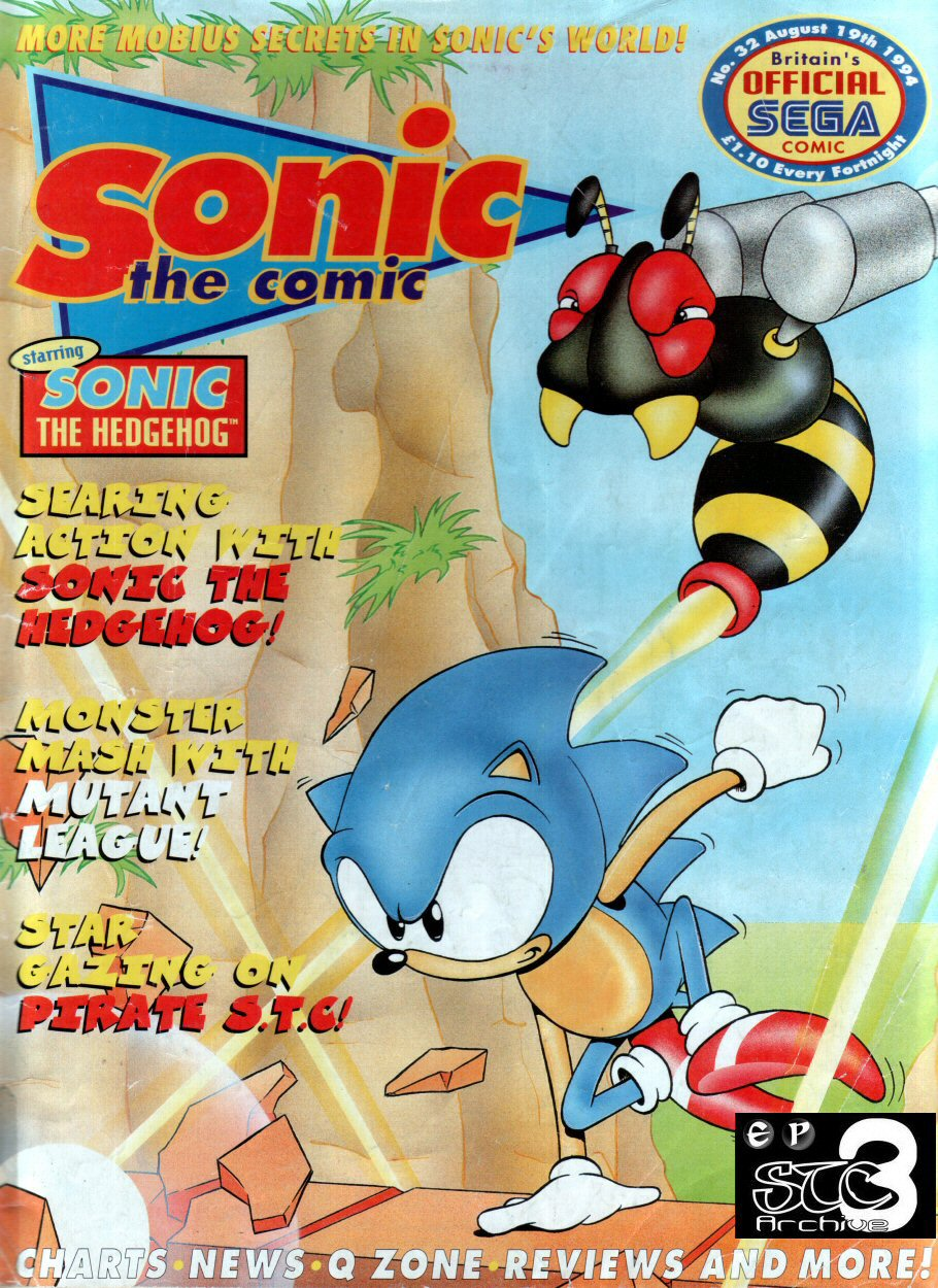 Sonic - The Comic Issue No. 032 Comic cover page