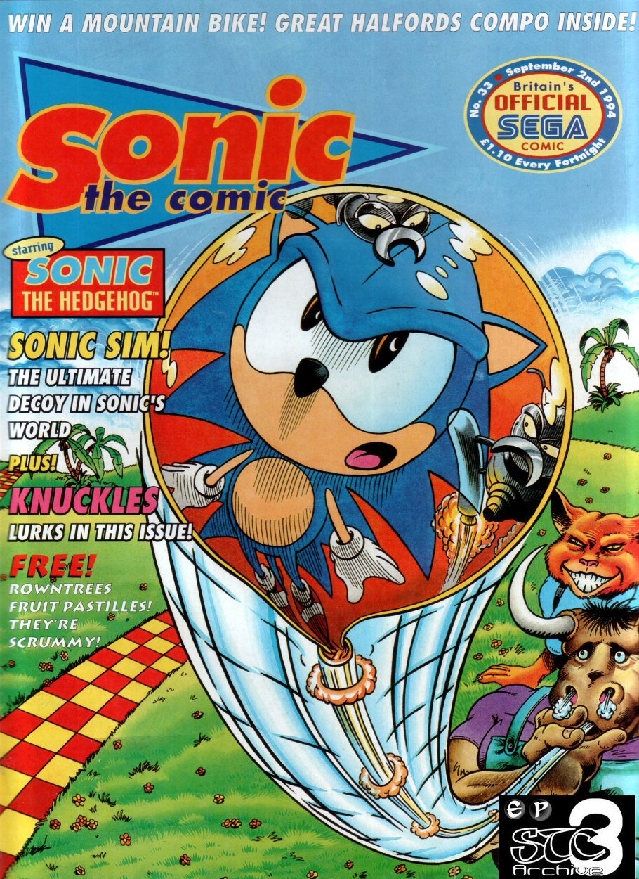Sonic - The Comic Issue No. 033 Cover Page