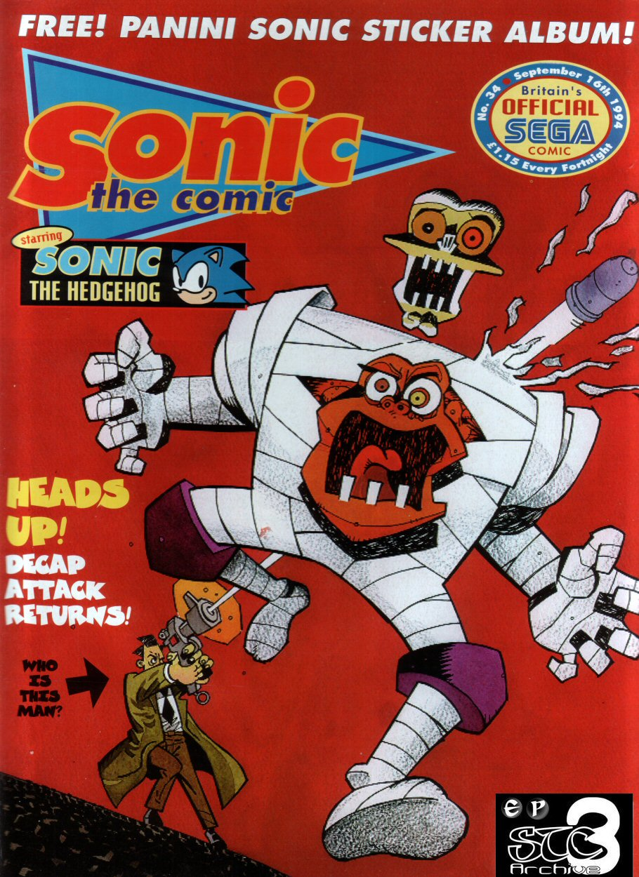Sonic - The Comic Issue No. 034 Cover Page