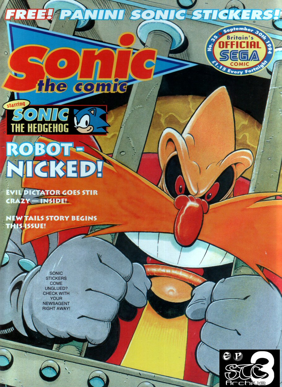 Sonic - The Comic Issue No. 035 Cover Page