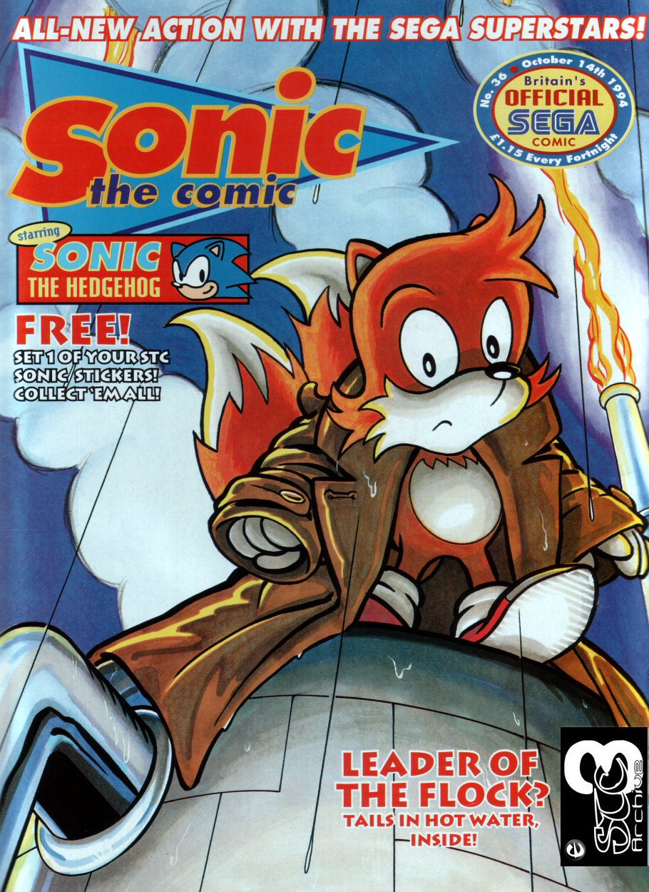 Sonic - The Comic Issue No. 036 Cover Page