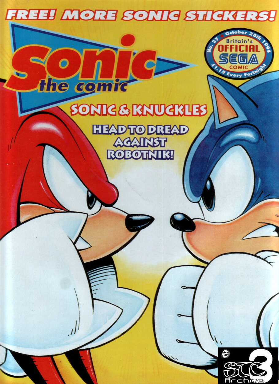 Sonic - The Comic Issue No. 037 Cover Page