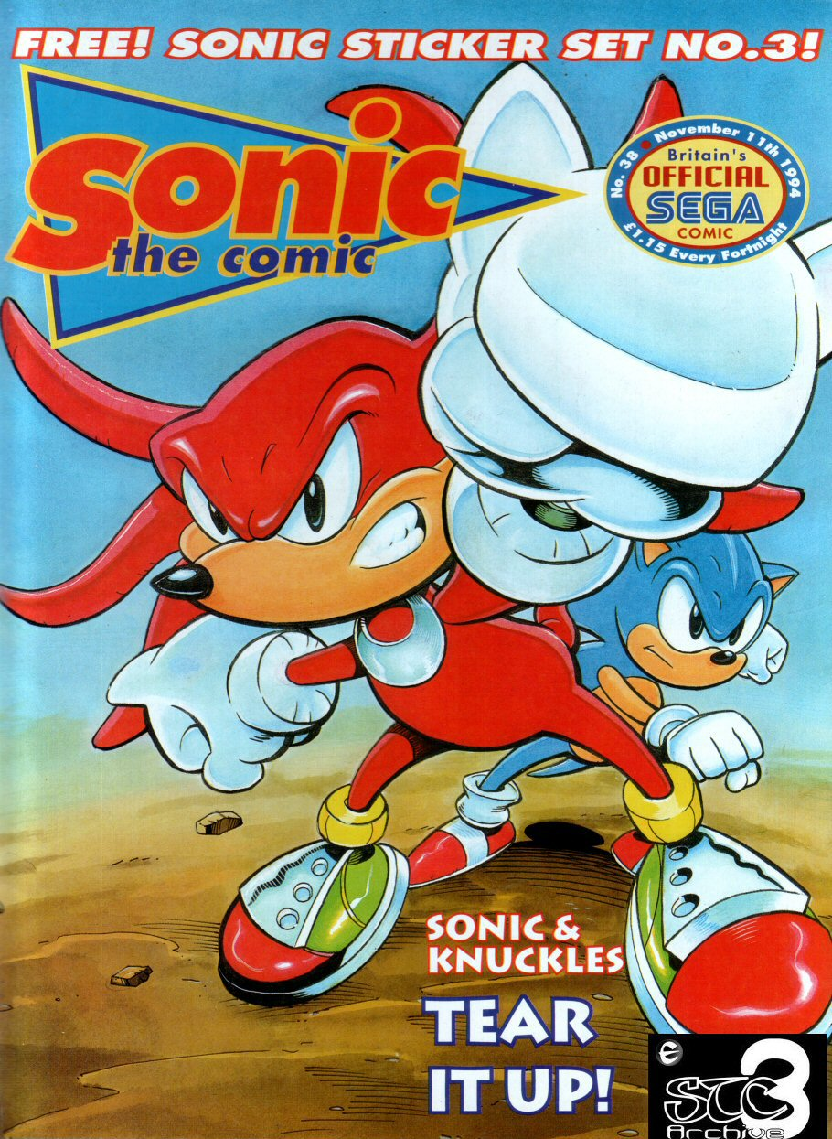 Sonic - The Comic Issue No. 038 Cover Page