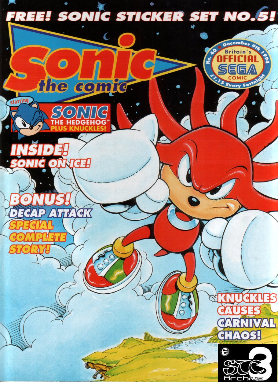 Sonic - The Comic Issue No. 040 Cover Page