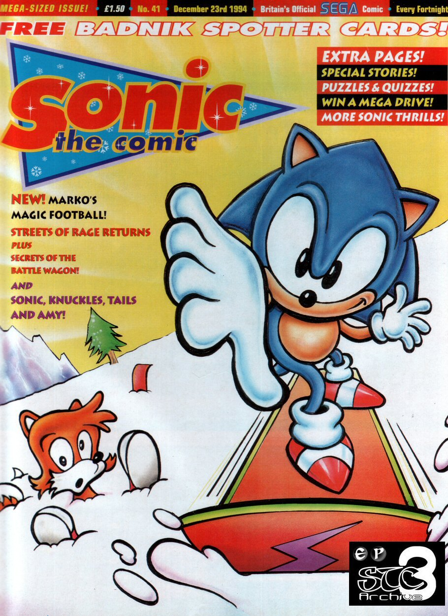Sonic - The Comic Issue No. 041 Comic cover page