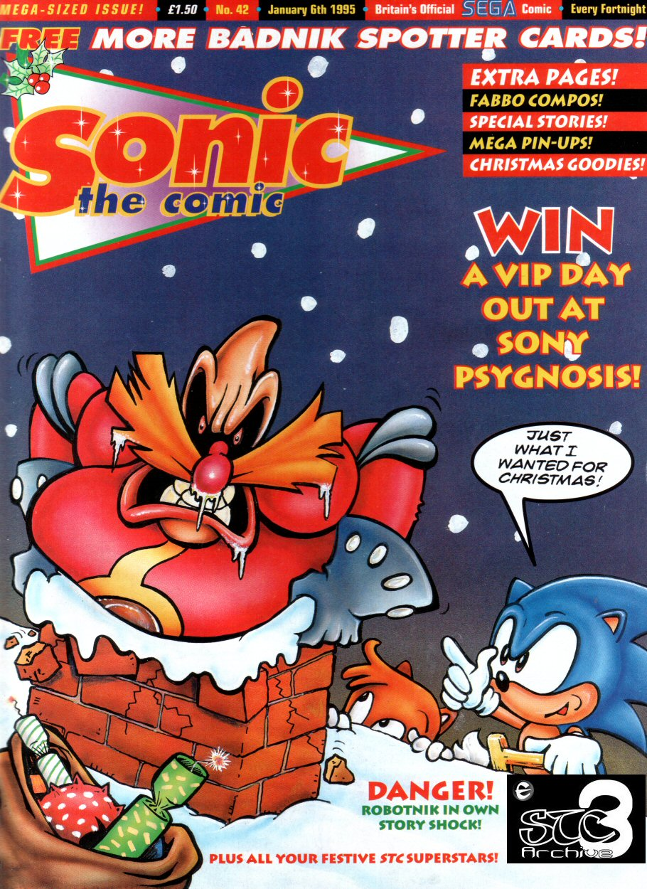 Sonic - The Comic Issue No. 042 Cover Page