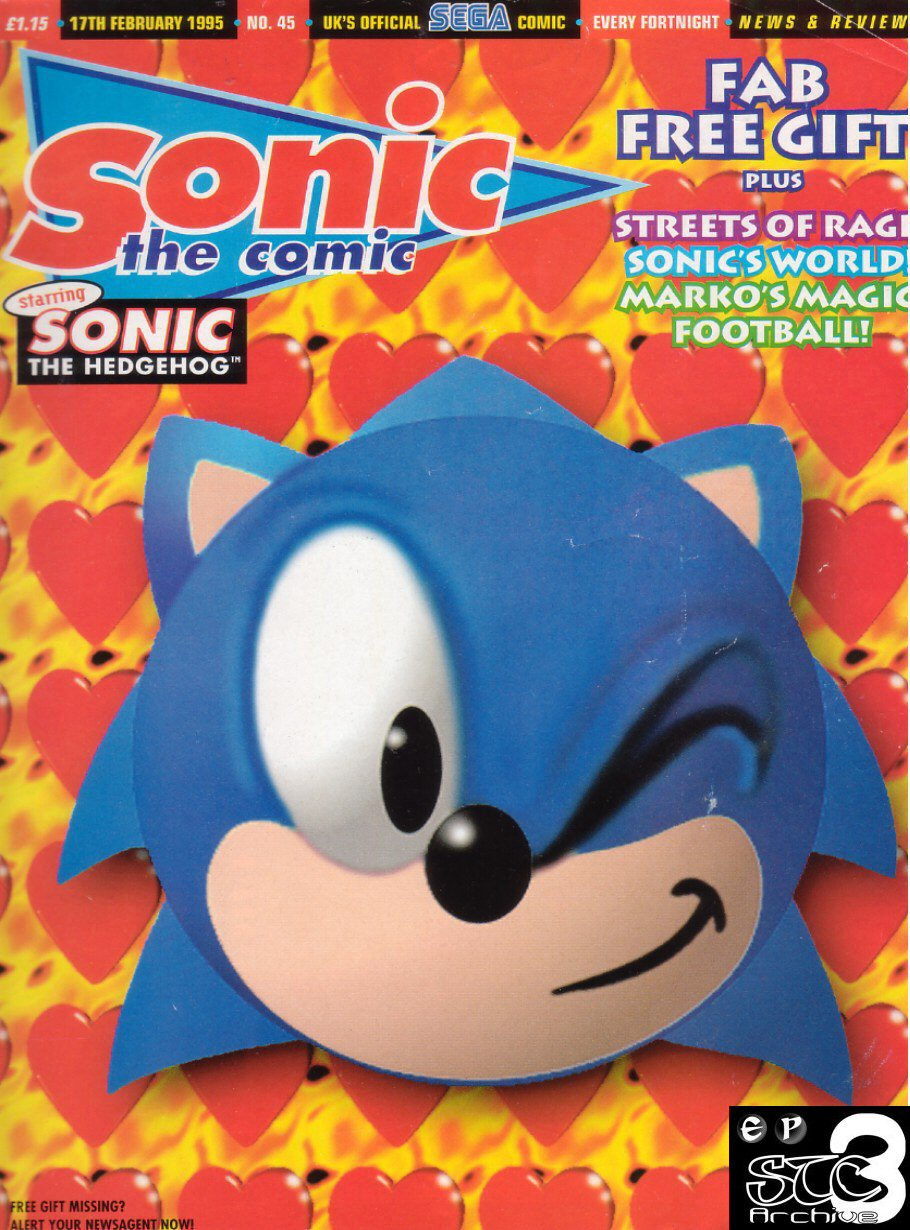 Sonic - The Comic Issue No. 045 Cover Page