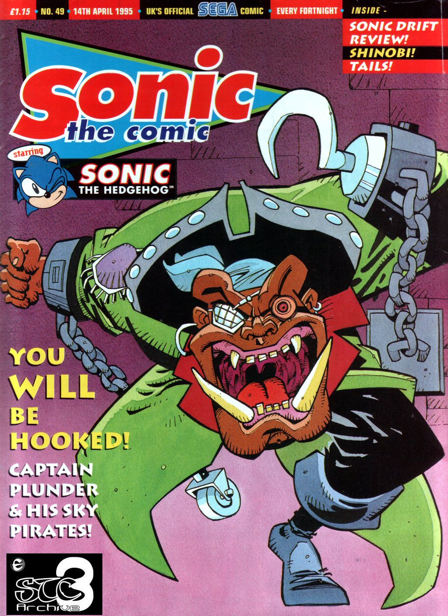 Sonic - The Comic Issue No. 049 Cover Page
