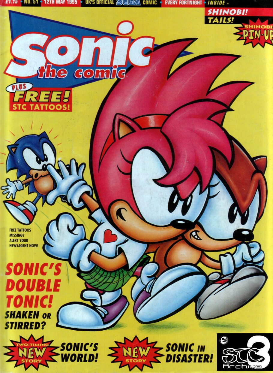 sonic the comic issue no 051 retro magazines comics strategy