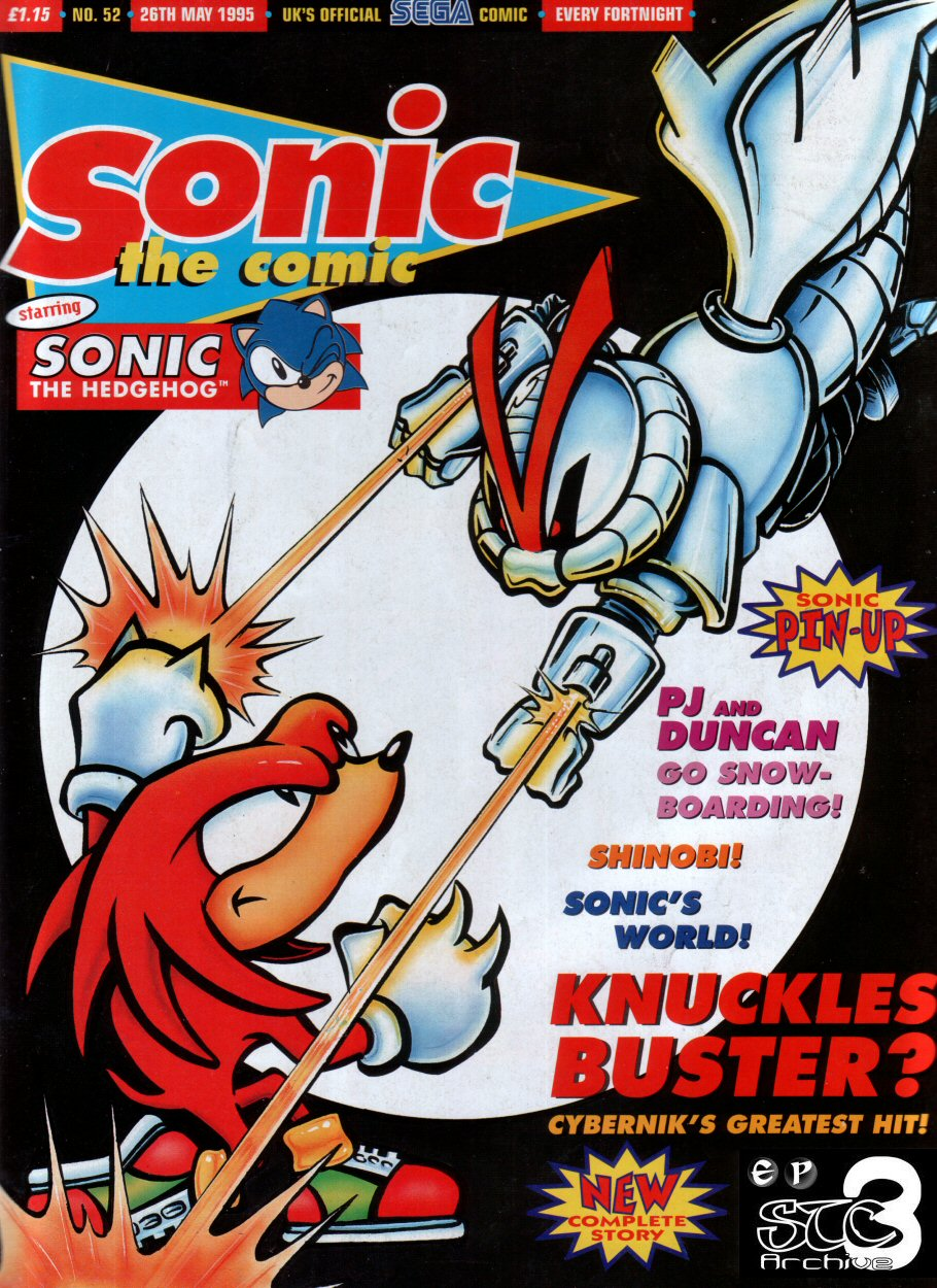 Sonic - The Comic Issue No. 052 Comic cover page