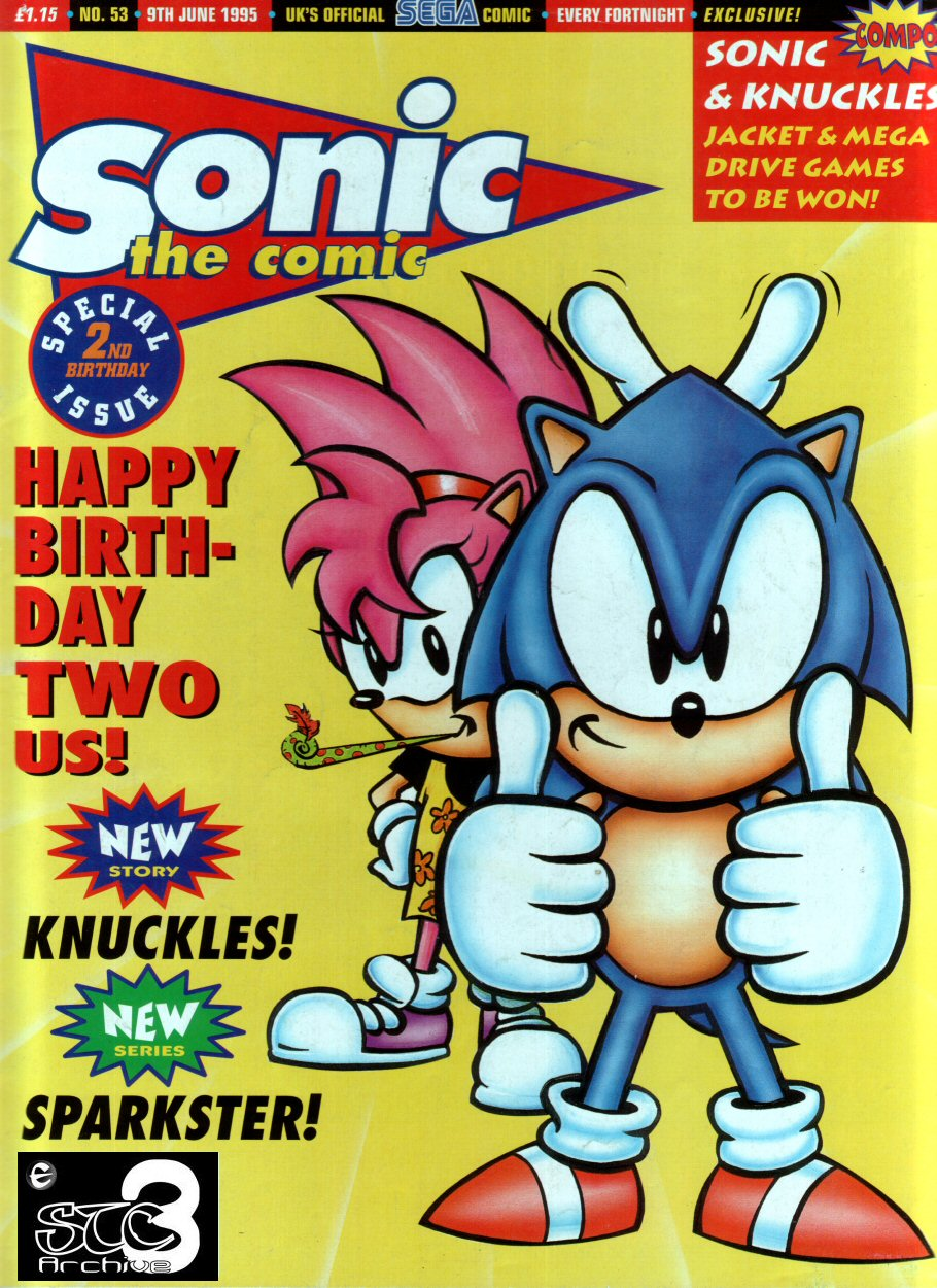 Sonic - The Comic Issue No. 053 Comic cover page
