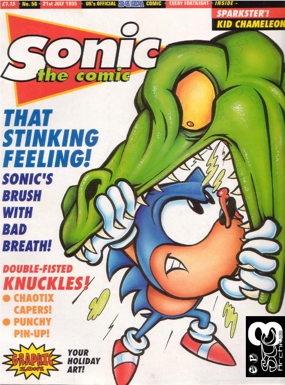 Sonic - The Comic Issue No. 056 Cover Page