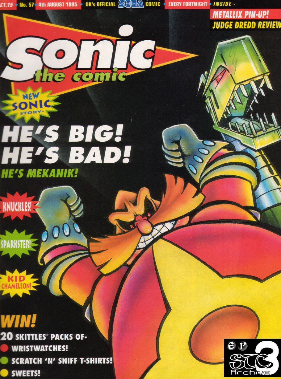 Sonic - The Comic Issue No. 057 Comic cover page