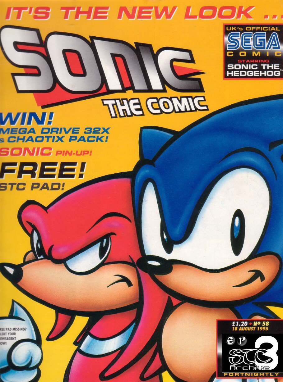 Sonic - The Comic Issue No. 058 Comic cover page