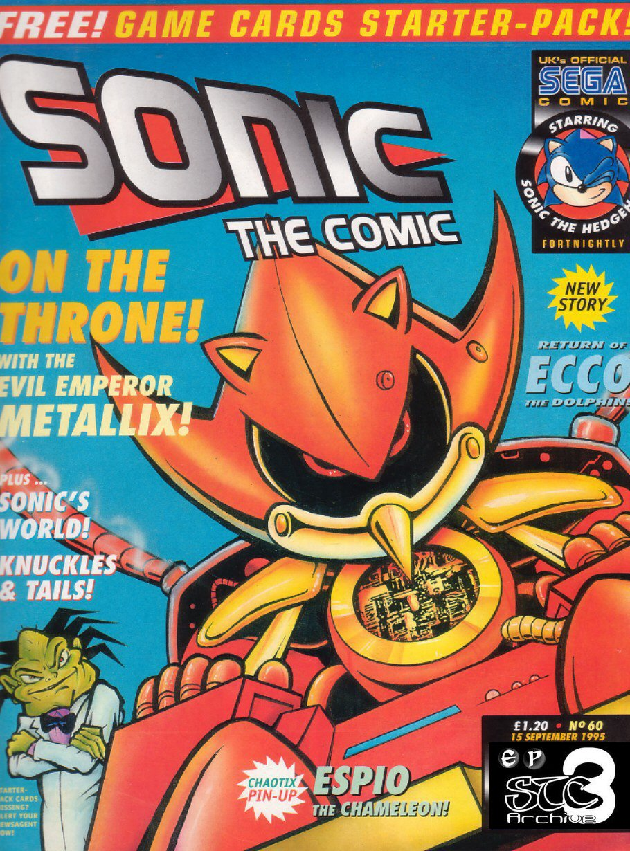 Sonic - The Comic Issue No. 060 Comic cover page