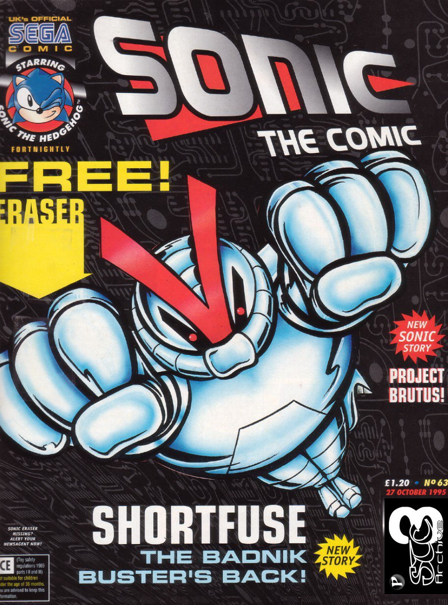 Sonic - The Comic Issue No. 063 Comic cover page
