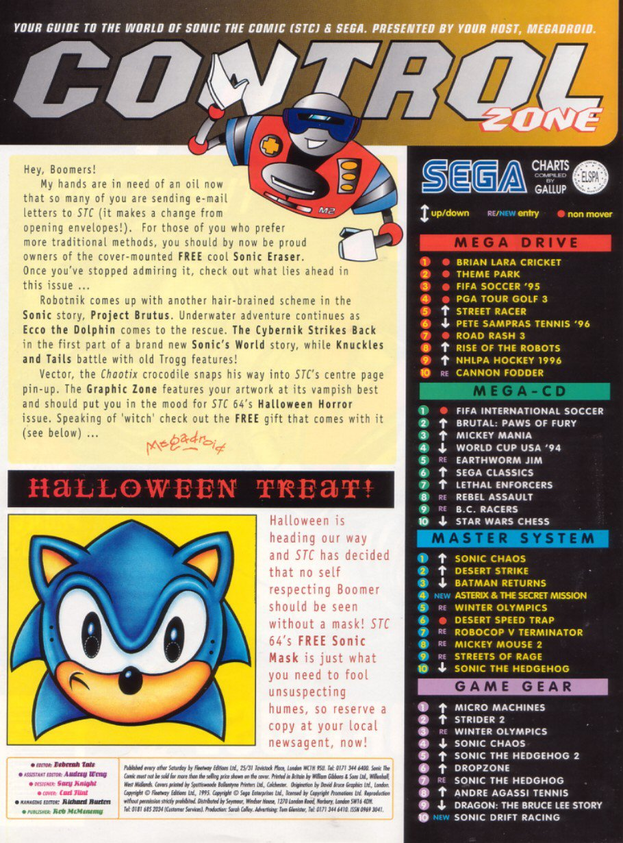 Sonic - The Comic Issue No. 063 Page 1