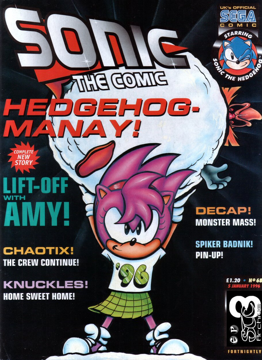 Sonic - The Comic Issue No. 068 Comic cover page