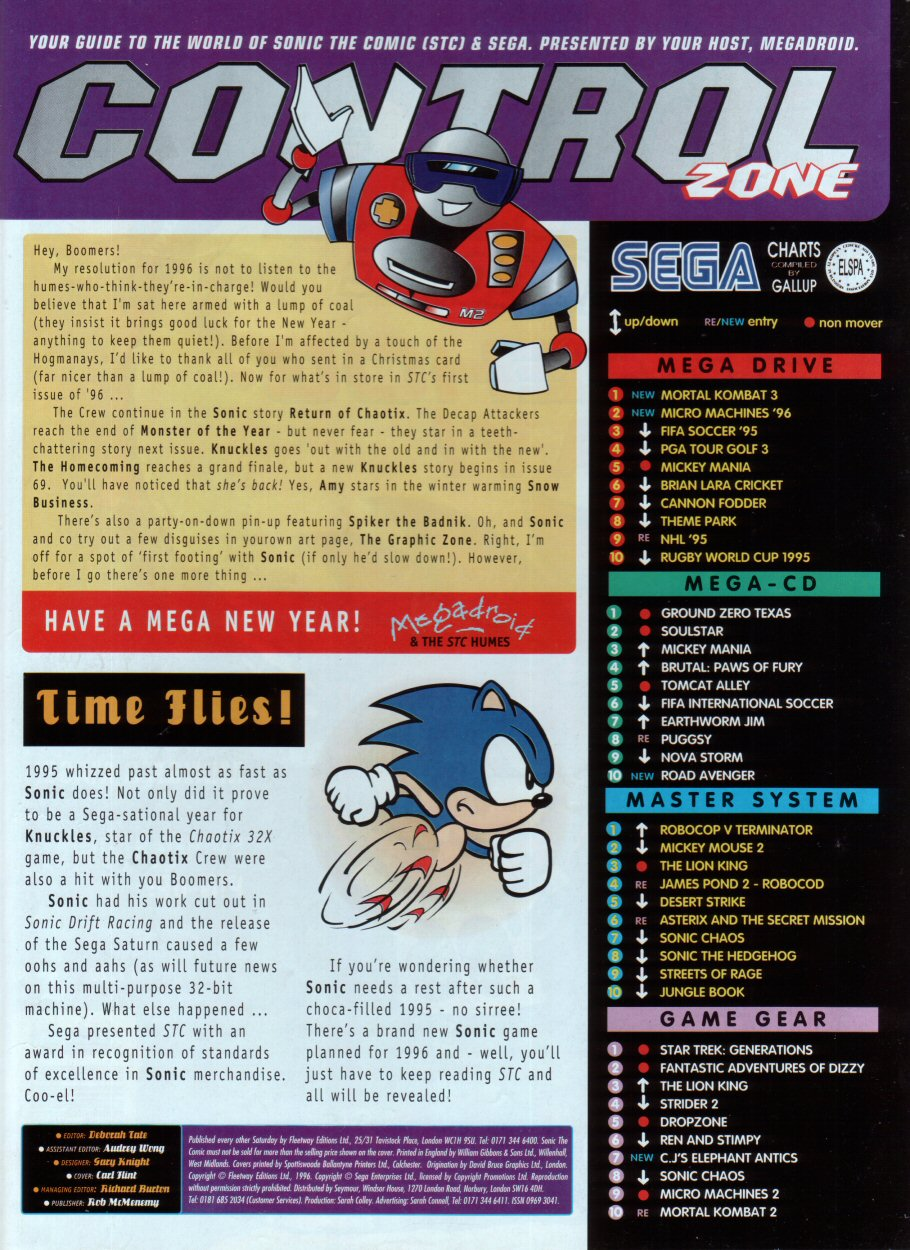 Sonic - The Comic Issue No. 068 Page 1