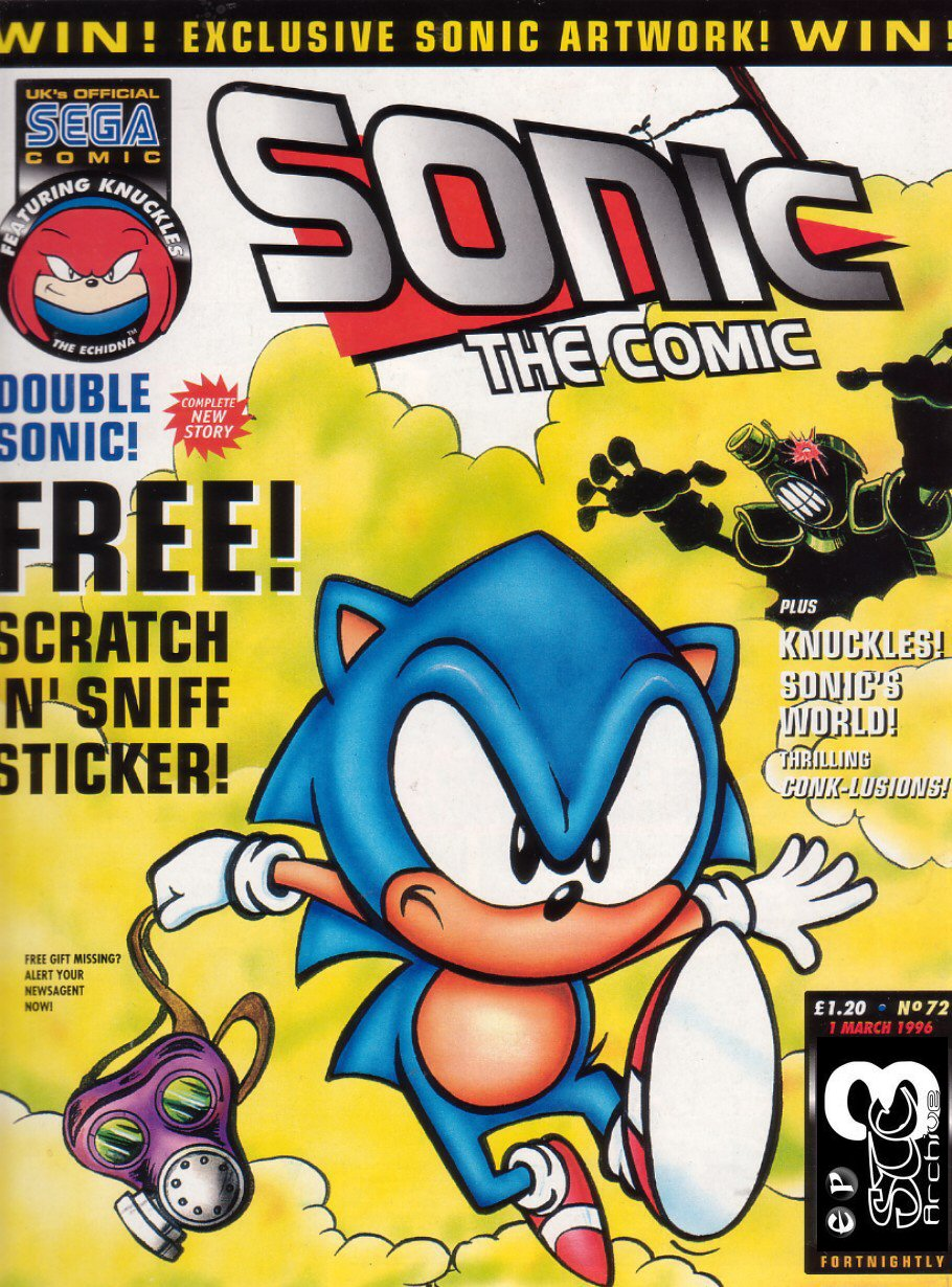 Sonic - The Comic Issue No. 072 Comic cover page