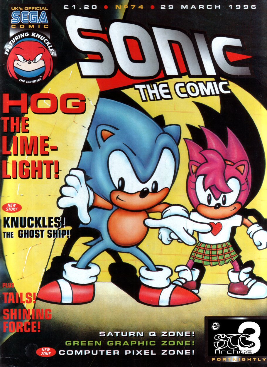 Sonic - The Comic Issue No. 074 Cover Page