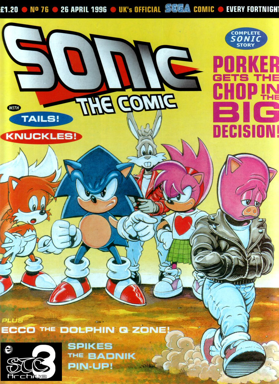 Sonic - The Comic Issue No. 076 Cover Page