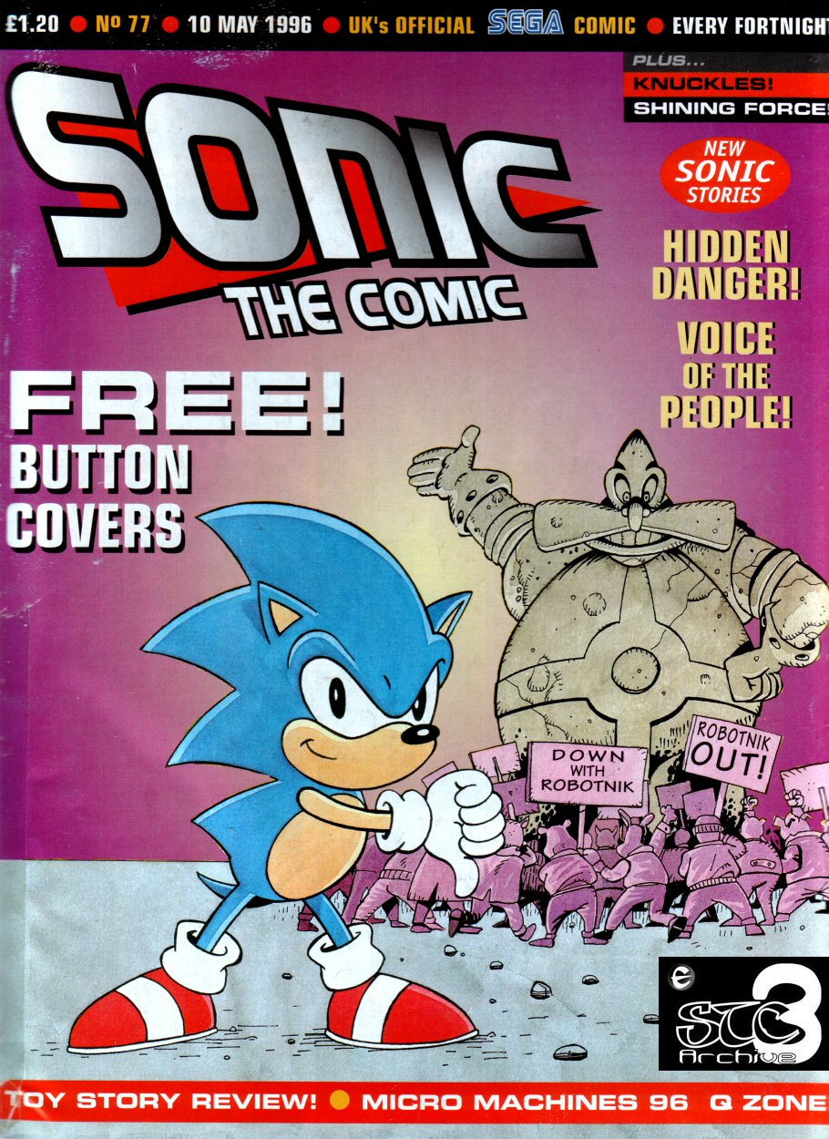 Sonic - The Comic Issue No. 077 Comic cover page