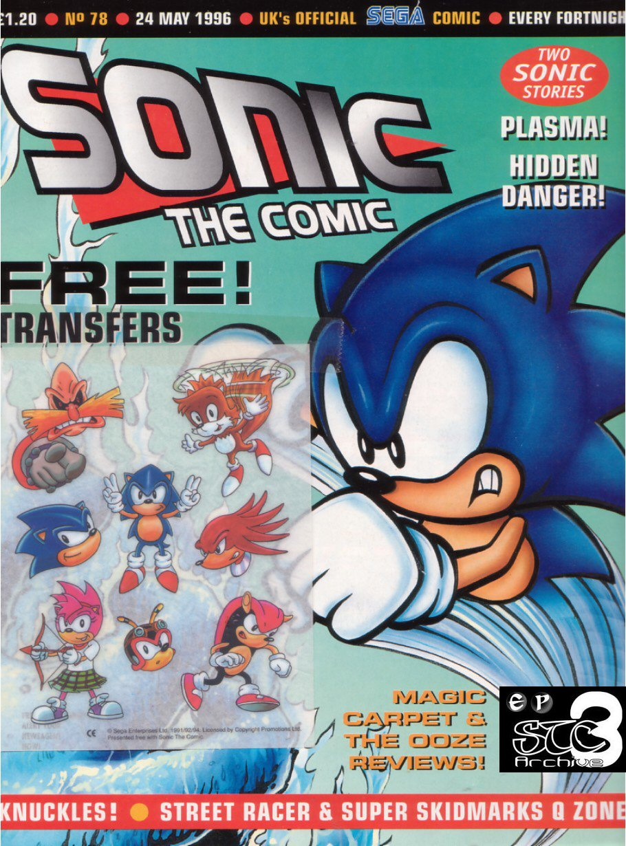 Sonic - The Comic Issue No. 078 Cover Page