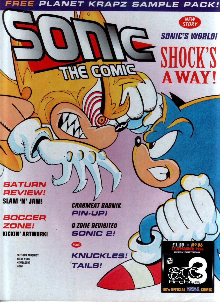 Sonic - The Comic Issue No. 086 Cover Page