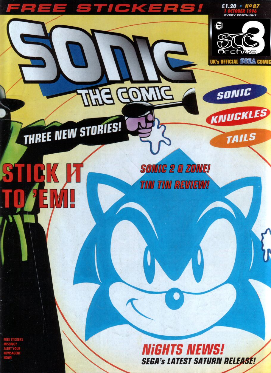 Sonic - The Comic Issue No. 087 Cover Page
