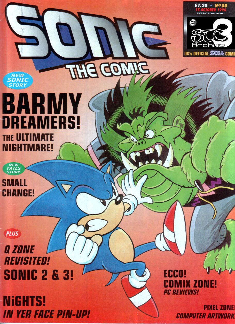 Sonic - The Comic Issue No. 088 Comic cover page