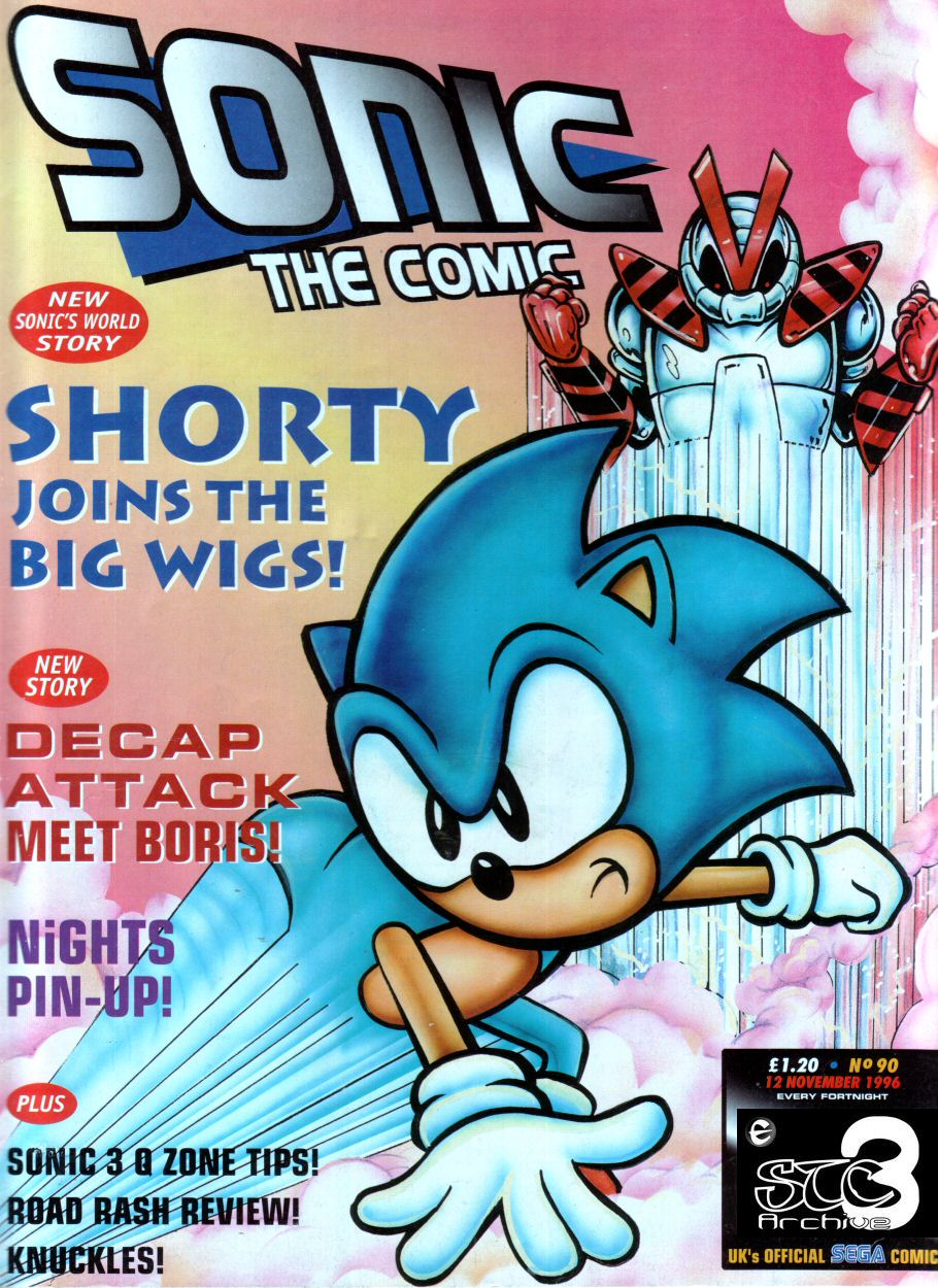 Sonic - The Comic Issue No. 090 Cover Page