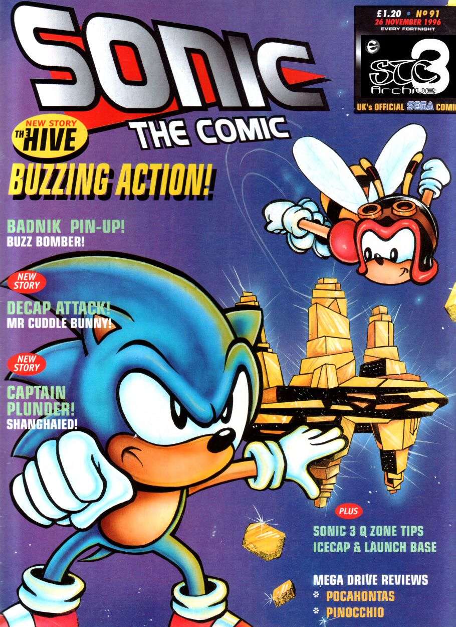 Sonic - The Comic Issue No. 091 Cover Page