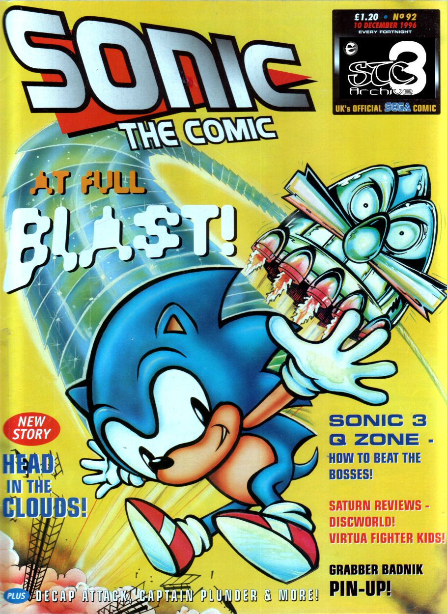 Sonic - The Comic Issue No. 092 Comic cover page